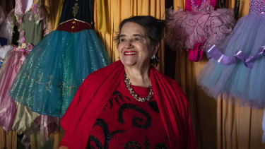 """""""It is tough but I think of myself as positive"""": Gina Bortolin-Papa in her Leichhardt shop."""