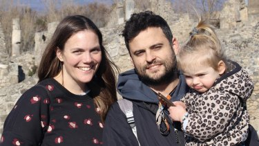 Laura Hartley with partner Alberto Sanchez Barco and daughter Sofia.