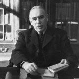 John Maynard Keynes in his study in Bloomsbury, London, in March 1940.