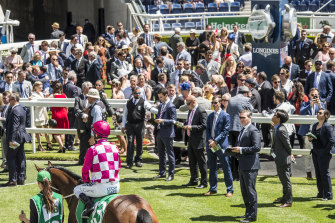 A record crowd attended Randwick for last year's The Everest.