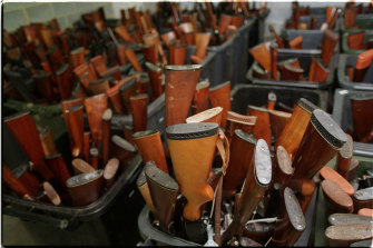 Guns collected in 1997 during the buyback.