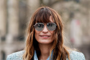 Caroline de Maigret giving us all 'no makeup, makeup' goals at the Chanel fall/winter show earlier this year.