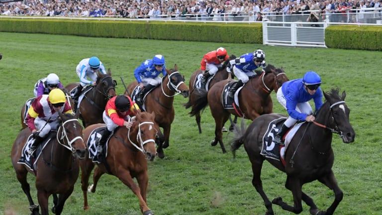 Bounding away: Avilius wins the Kingston Town Stakes.