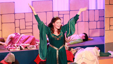 Alex McPherson as Winnifred in <i>Once Upon a Mattress</i>. Photo: Jenny Watson.