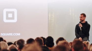 Square and Twitter CEO Jack Dorsey speaks at atech community talk in Melbourne, earlier this week.