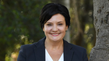 Newly elected leader of the NSW Labor Party Jodi McKay at Burwood Park on Sunday.