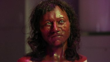 A reconstruction by Dutch experts of the face of Cheddar Man who is believed to have been one of the first modern Britons about 9000 years ago.