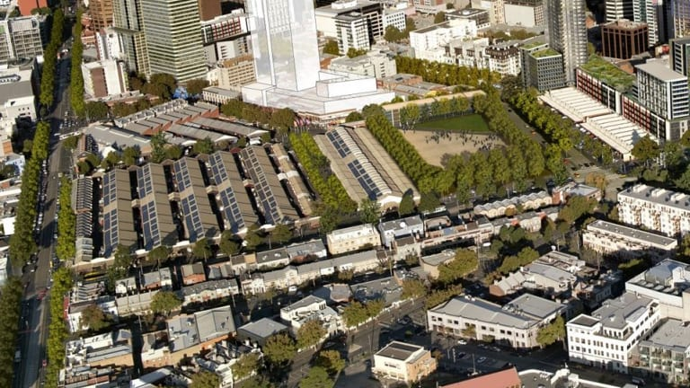 An artist's impression of the planned market redevelopment.
