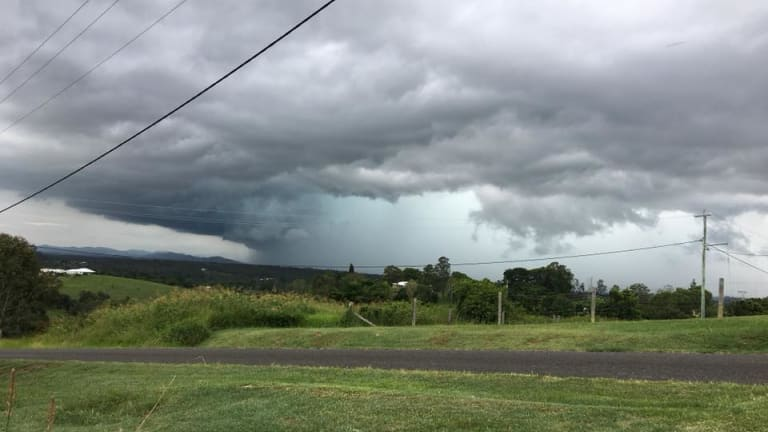 The storms roll over Chatsworth near Gympie, about 175 kilometres north of Brisbane.