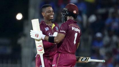 Hetmyer, Hope help Windies to easy ODI win over India