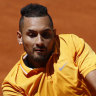 An outburst, underarm shots and a swift claycourt exit for Kyrgios