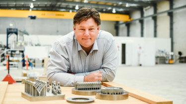 Aurora Labs managing director David Budge at the company's Perth factory.