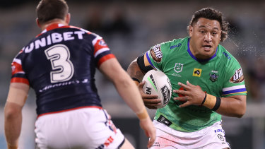 Once bitten: Josh Papalii didn't want to take the flu vaccine after both he and his daughter had adverse reactions to the jab.