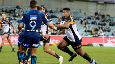 Folau Faingaa has been a try-scoring machine in his second Super Rugby season.