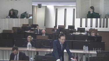 Council assisting the ICAC, Scott Robinson, asks questions of Gladys Berejiklian.