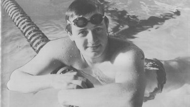 Bob Staddon, who has quadriplegia, training for the Paralympic Games in the 1980s before he pursued scuba diving.