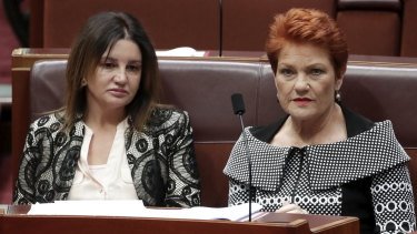 Senators Jacqui Lambie and Pauline Hanson both voted against the bill.