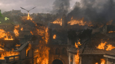 The battle is won, the city has surrendered, but still Dany rains fire upon her enemy.