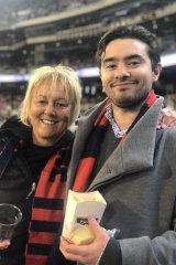 Karen O'Donoghue with son Jarred.