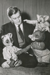 Peter Scriven with some of the superstar Tintookies in 1957.