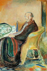 Self Portrait with the Spanish Flu by  Edvard Munch.
