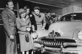 People admire the FJ Holden.