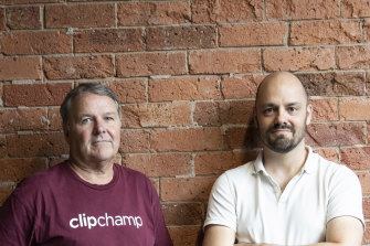 Clipchamp's David Hewitt, left, and Alex Dreiling will now join Microsoft.
