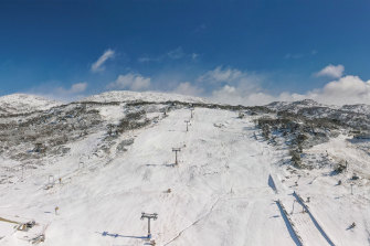 Perisher also saw snowy conditions on Saturday.