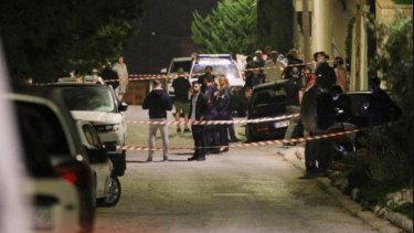 John Macris was shot dead in Athens.