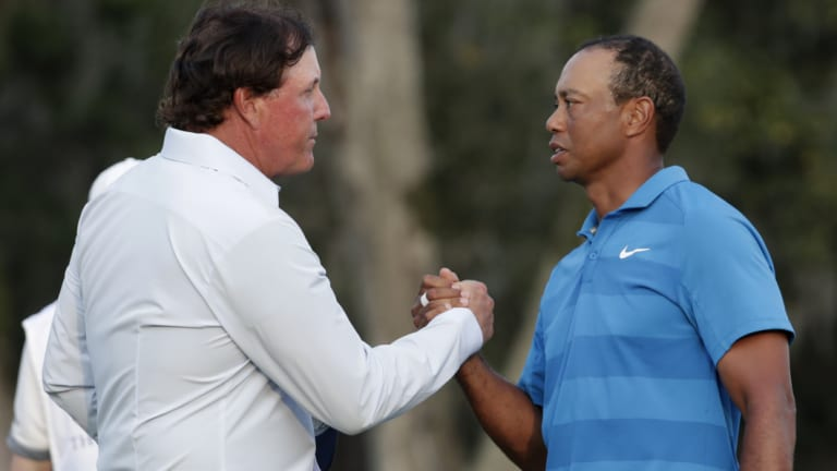Dream team: Phil Mickelson and Tiger Woods.