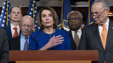In a press conference after the failed meeting, House Speaker Nancy Pelosi said she prayed for the President.