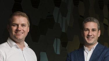 Prospa founders Beau Bertoli and Greg Moshal.