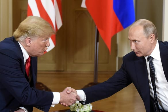 A handshake in Helsinki, then two presidents get down to business