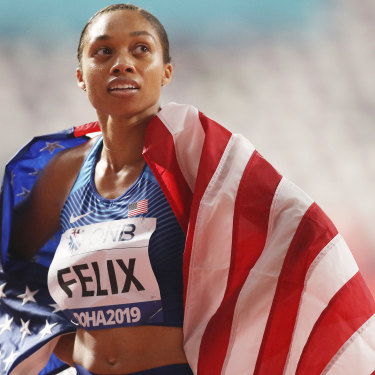 USA track great Allyson Felix won eight Olympic gold medals before becoming a mother and is targeting the Tokyo Olympics.