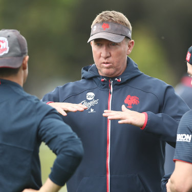 Sweet science: Roosters coach Trent Robinson.