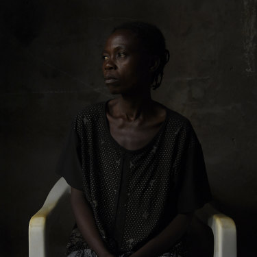 Elise Badiakuila, 43, was held as a sex slave by militia for five months.