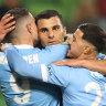 City cruise to victory over Jets, go four points clear at top