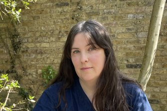 Evie Wyld, in her garden in London, says MeToo helped her bring the disparate female voices in her novel together, to work out they were part of the same story,