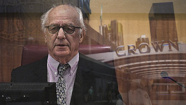 Former Federal Court judge Ray Finkelstein is leading the Victorian commission into Crown Melbourne.