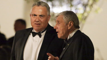 United States ambassador Joe Hockey and businessman Kerry Stokes during the state dinner.