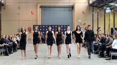 Models audition for the Brisbane fashion festival.