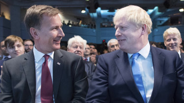 Jeremy Hunt and Boris Johnson await the Tory leadership result.