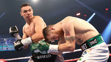 Tim Tszyu demolished Dennis Hogan but there are parts of his game he needs to sharpen before any title assault.