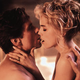 Michael Douglas and Sharon Stone in Basic Instinct (1992).
