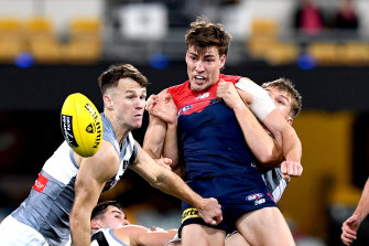Jack Viney is suffering from concussion.