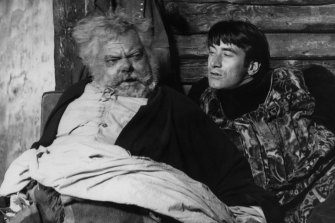 Orson Welles and Keith Baxter in <i>Chimes at Midnight</i>.