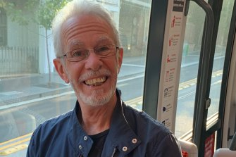 """Andrew Irving said he was """"hoping for a more relaxed trip"""" on board the tram."""
