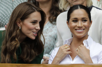 Meghan and Kate at Wimbledon in July.
