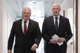Scott Morrison raised the need for the lifetime ban a year ago, Peter Dutton saying it was needed to tell asylum seekers they could not settle in Australia.