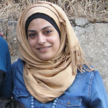 Marwa Al-Sabouni and her family stayed in Homs, where she now runs an architectural studio with her husband Ghassan Jansiz.